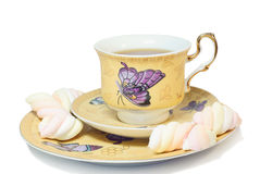 Tea with marshmallow Royalty Free Stock Images