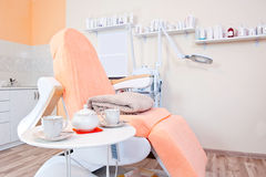 Tea in massage room Stock Image