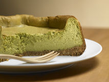 Tea Matcha cheese cake Stock Images
