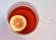 Tea med citronen Fotografering för Bildbyråer