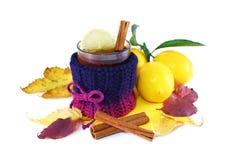 Tea med citronen royaltyfri fotografi