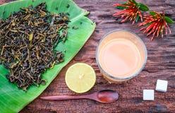 Tea med mjölkar Royaltyfria Foton