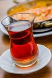 Tea and Menemen, Turkish Breakfast Royalty Free Stock Images