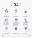 Tea menu design Stock Image