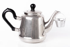Tea metal pot on white Royalty Free Stock Photos