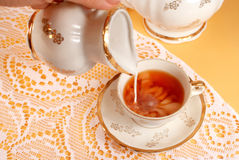 Tea and milk Royalty Free Stock Image