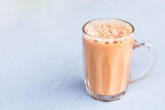 Tea with milk or popularly known as Teh Tarik in Malaysia Royalty Free Stock Photography