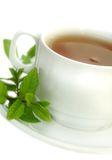 Tea with mint. Cup of tea with mint Stock Photography