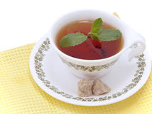 Tea with mint royalty free stock photos
