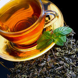 Tea and mint Royalty Free Stock Photos