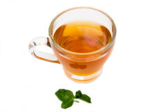 Tea with mint from above Royalty Free Stock Images