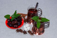 Tea with Mint in Arab tradition Royalty Free Stock Photography