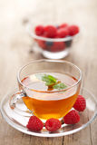 Tea with mint and berry Royalty Free Stock Photos