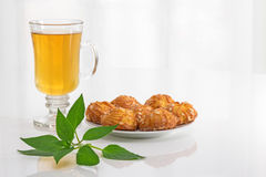 Tea, mint and cookies Royalty Free Stock Photography