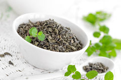 Tea with mint Stock Photography