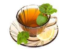 Tea with mint and lemon Royalty Free Stock Image