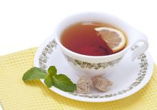 Tea with mint and lemon Stock Images