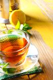 Tea with mint and lemon. Royalty Free Stock Image