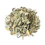 Tea mix of currants, mint, lemongrass, barberry and green peel of an orange. Tea mix of currants, mint, lemongrass, barberry and green peel of an orange stock images