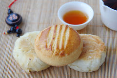 Tea and moon cakes Stock Image