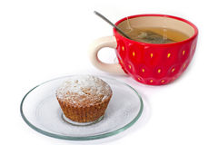 Tea and a muffin Stock Images
