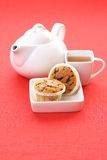 Tea and muffins. Cup of tea and delicious muffins - food and drink Stock Images