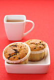 Tea and muffins. Cup of tea and delicious muffins - food and drink Royalty Free Stock Image