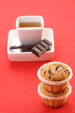 Tea and muffins. Cup of tea and delicious muffins - food and drink Stock Photos
