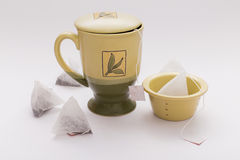 Tea mug and bags Royalty Free Stock Photo