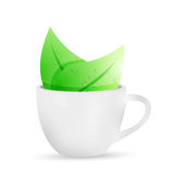 Tea mug illustration design Stock Photos