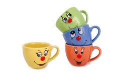 Tea mugs and coffee cups Stock Photo