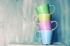 Tea mugs Royalty Free Stock Photography