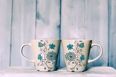 Tea mugs Royalty Free Stock Images