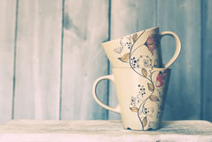 Tea mugs royalty free stock image