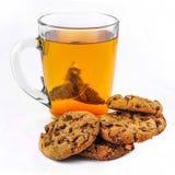 Tea och kakor royaltyfria bilder