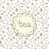 Tea och sötsaker stock illustrationer