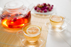 Tea och teatime Arkivbilder