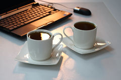 Tea at office royalty free stock image