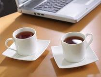 Tea at office stock photos