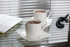 Tea at office stock image