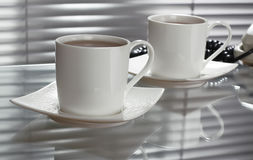 Tea at office stock photography