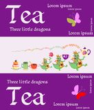 Tea packaging. Cute card with fairy image. Royalty Free Stock Photos