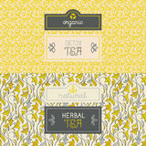 Tea packaging design elements Stock Image