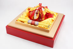 Tea packaging gift boxes Royalty Free Stock Image