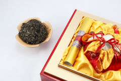 Tea packaging gift boxes Stock Images
