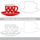 Tea pair. Drawing worksheet. Royalty Free Stock Photo