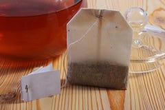 Tea in a paper bag Stock Photos