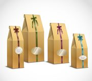 Tea Paper Packaging Realistic Set Stock Photography
