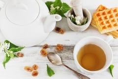 Tea party útil fotografia de stock royalty free