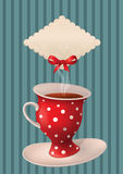 Tea party. Vector poster with cup and place for your text Stock Photography